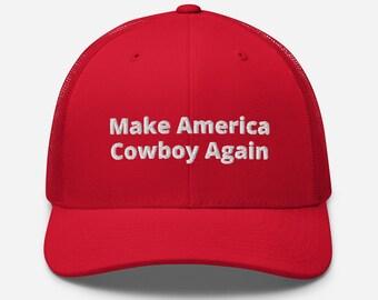 Make America Cowboy Again Trucker