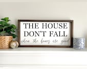 The House Don 39 t Fall When The Bones Are Good Framed Sign, Farmhouse Lyric Sign, Country Lyrics Wood Sign, Living Room Decor,