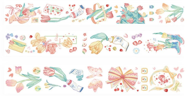 Days in a Week Themed Washi Tape Sample 90cm for Journaling and Decorating Planners; Stationary Paper Products