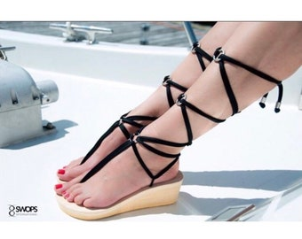 SWOPS Long Lace Interchangeable Gladiator Sandals