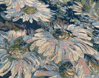 Van Gogh Oil Painting Fabric/Fabric By the Yard Floral/Cotton Fabric/Cotton Quilting Fabric/Floral Cotton Fabric/Brocade Fabric/Green Fabric