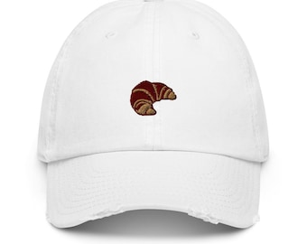 Croissant Dad Hat,Embroidered Baseball Cap-Unisex