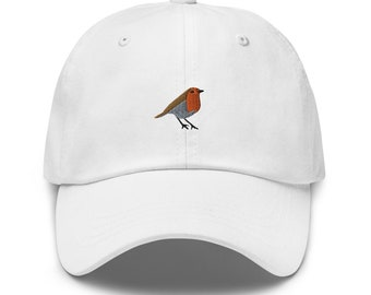 Robin Dad hat,embroidered baseball cap-Unisex
