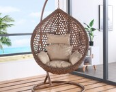 Hanging chair Household single bassinet chair Indoor swing Rocking chair balcony Lazy man 39 s nest Hanging basket wicker chair