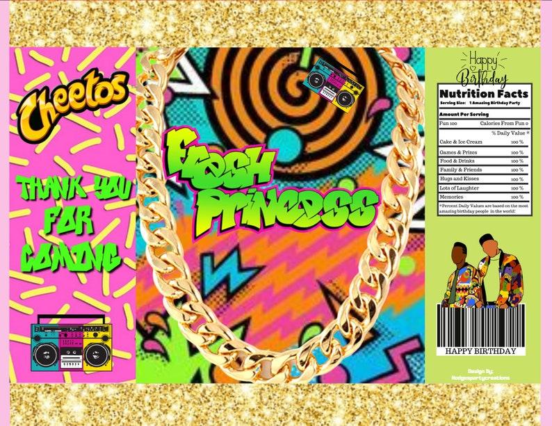 Fresh Princess  Prince Chip bag and   Party Treats