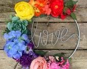 Summer 2021 Pride month love is love series script wreath