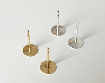 stud earring finding 10 pcs bronze Earring stud Brass Ear post