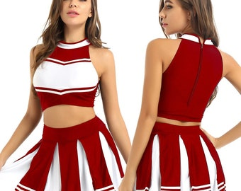 Female cheerleader costume. SPerformance costume.