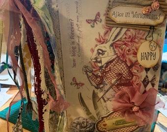Handmade junk journal theme: Alice in Wonderland no 5