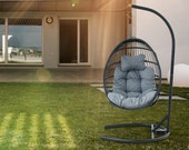 Hanging Hammock Chair Swinging Garden Outdoor Furniture Soft Cushion Seat Dormitory Bedroom Hanging Chair Back With Pillow