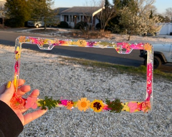 Customizable License Plate Cover | license plate frame | Flower license plate frame | butterfly license plate frame