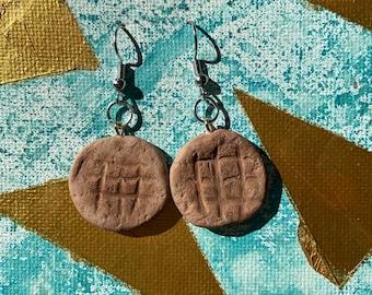Snickerdoodle cookie earrings