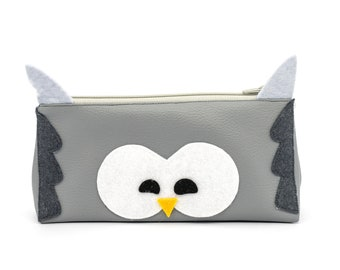 Leather faux owl kit