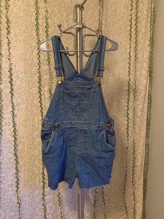 Vintage Women's Medium Blue Denim Overall Cutoff S