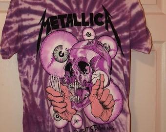 Metallica Bleach Tie Dyed Band T-Shirt Metallica Graphic T-shirt Band Tee Unisex XL