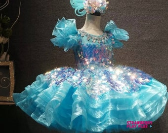ABDL Adult Pageant Cake Dress | Custom Sizes | Sissy and Plus Size Friendly