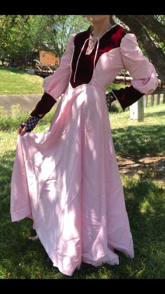 80s Handmade Formal Dress, Medieval