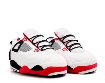 AJ 4 White Retro Hi Top Trainer Slippers