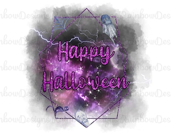 Happy Halloween Sublimation PNG, Gothic Design, Halloween Download