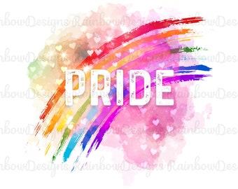 PRIDE Sublimation, LGBTQ PNG, Gay Pride Design, Gift For Pride Month