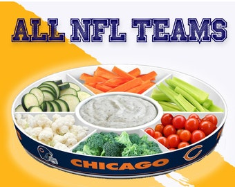 NFL Gifts, NFL Vegetable tray, Chip and dip tray, Party tray, serving platter, Serving tray,  football gifts, Fremont Die