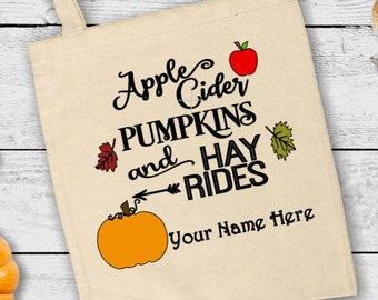 Pumpkin tote bag Kids farm market tote bag Happy harvest fall tote bag for kids Harvest tote Canvas tote bag Kids fall harvest tote bag