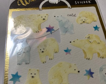 Ours Polaires BABY Antarctique Mural Sticker Autocollant d1070