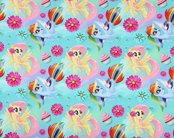 My Little Pony Fabric Anime Cartoon Fabric Cotton Fabric By The Half Yard