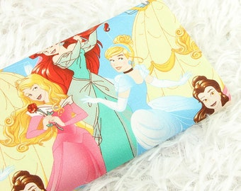 Disney Princess Fabric Anime Cartoon Fabric Cotton Fabric By The Half Yard