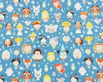 Cute Size Princess Fabric Anime Cartoon Fabric Cotton Fabric By The Half Yard