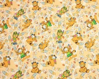 Garfield Cat Fabric Orange Cat Kitty Anime Cartoon Fabric Cotton Fabric By The Half Yard
