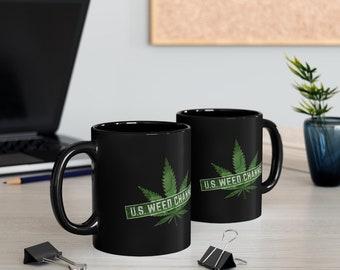 U.S. WEED CHANNEL Og Logo Black Mug