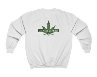 U.S. WEED CHANNEL Heavy Blend Crewneck Sweatshirt