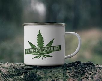 U.S. WEED CHANNEL Enamel Campfire Mug