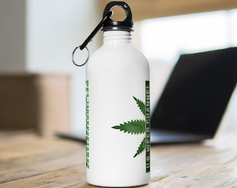 U.S. WEED CHANNEL 'Weed Has A Channel?!' Stainless Steel Water Bottle