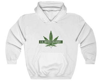 U.S. WEED CHANNEL Heavy Hooded Sweatshirt