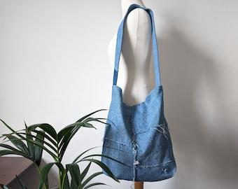 Upcycled Handmade Patched Denim Shoulder Bag