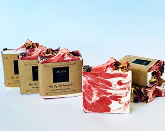 Rose, Fig And Pomegranate/Traditionally Made/All Natural/100% Organic/Cold Process/Cruelty Free