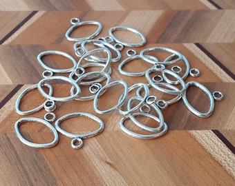 20x Antique Silver Oval link