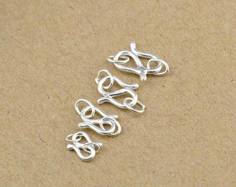 5 Sets 10pcs fish hook clasp hook toggle-Antique silverTibetain silver bracelet toggle jewelry findings-A 5371