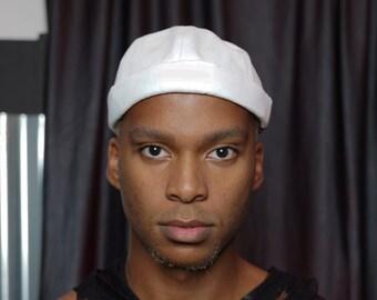 White Canvas Docker Brimless Adjustable hat