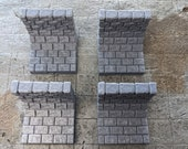 Straight Sewer Walls - Set of 4, Dungeon Terrain, RPG, dnd, Pathfinder, 28mm 1inch scale, 2x2, Gaming Tiles, Fantasy, Dungeon Master