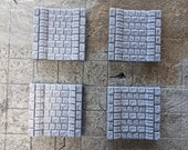 Straight Flow Sewer Tiles - Set of 4, Dungeon Terrain, RPG Tiles, Fantasy, Gaming, Tabletop Games, 28mm 1inch scale, Dragonlock