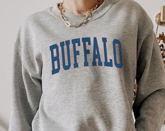 Buffalo Grey and Blue Unisex Crewneck Sweatshirt
