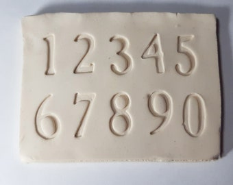 Stamps for clay alphabet letters uppercase lowercase numeric