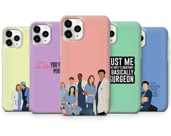 Grey's Anatomy Phone Case Medical Cover for iPhone 12 12 Pro, 11 & Samsung S10 Lite, A40, A50, A51, Huawei,W62