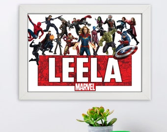 birthday present Personalised Spiderman frame special words for a special person christmas gift- avenger-hero