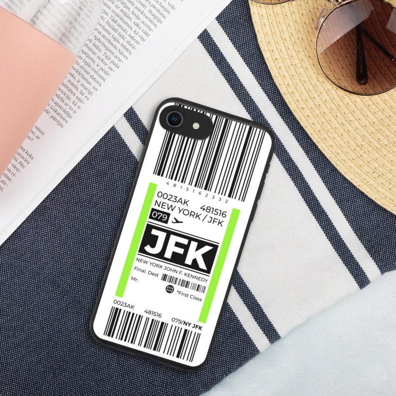 Baggage Tag New York City JFK Airport Biodegradable Phone Case