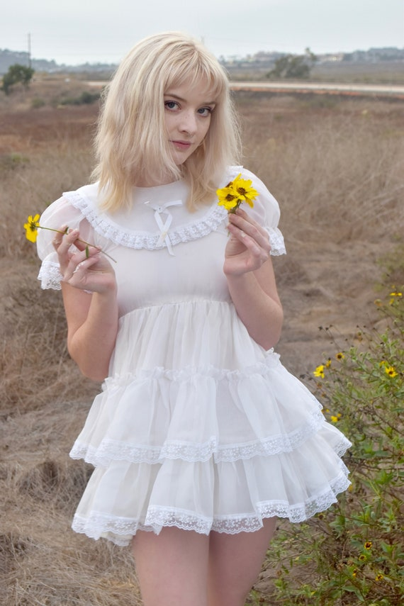 1970s Square Dancing Mini Dress