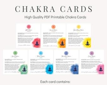 Chakra Card Set - Printable